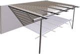 Stratco Outback Pergola Shade Blade for Pergolas, Patios, Verandas and Verandahs