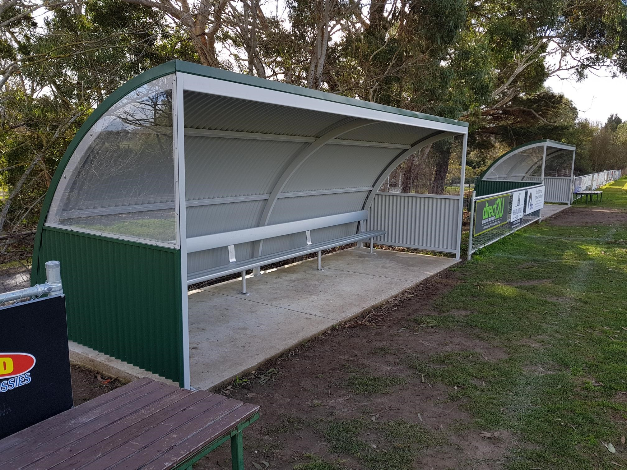 Custom Curved Shelters