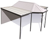 Stratco Outback Gazebo End - Awnings, Carports, Pergolas, Verandahs and Patios